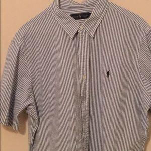 Polo Ralph Lauren Short Sleeved Seersucker Shirt
